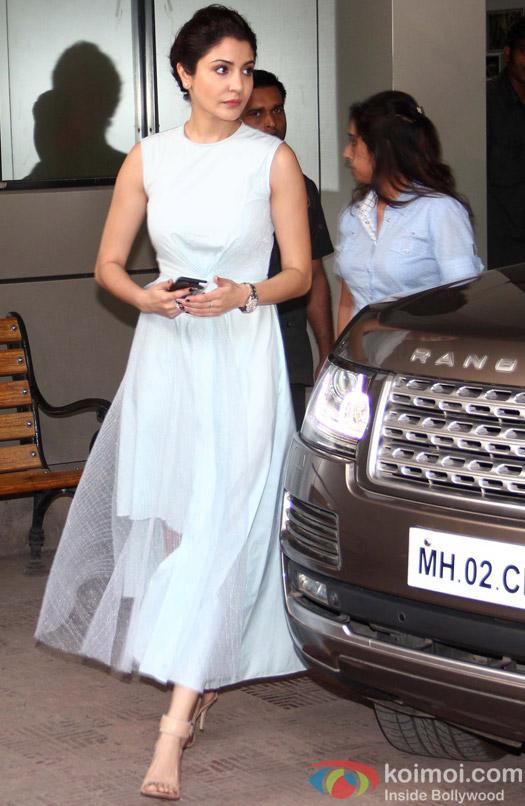Snapped : Anushka Sharma At Bombay Velvet Promotions