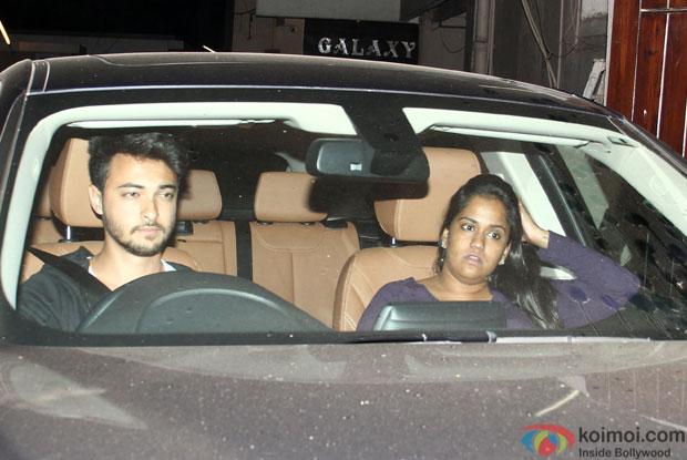 spotted : Ayush Sharma and Arpita Khan visiting Salman's residence