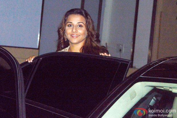 Snapped : Vidya Balan At Her Residence