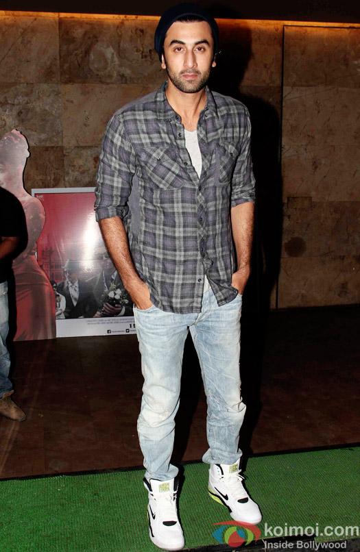 Ranbir Kapoor during the special screening of Bombay Velvet at Lightbox