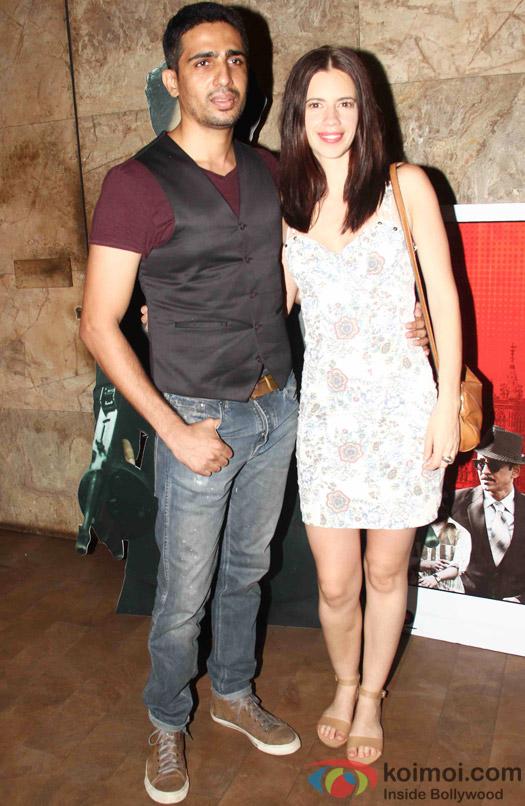 Gulshan Devaiya and Kalki Koechlin during the special screening of Bombay Velvet at Lightbox