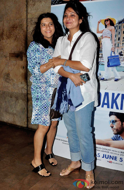 Zoya Akhtar and Shefali Shah during the special screening of Dil Dhadakne Do at Lightbox