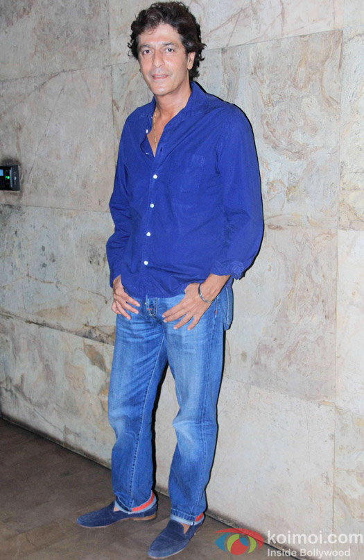 Chunky Pandey during the special screening of Dil Dhadhakne Do at Lightbox