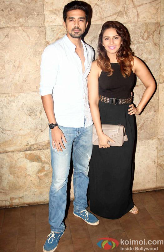 Saqib Saleem and Huma Qureshi during the special screening of Tanu Weds Manu Returns at Lightbox