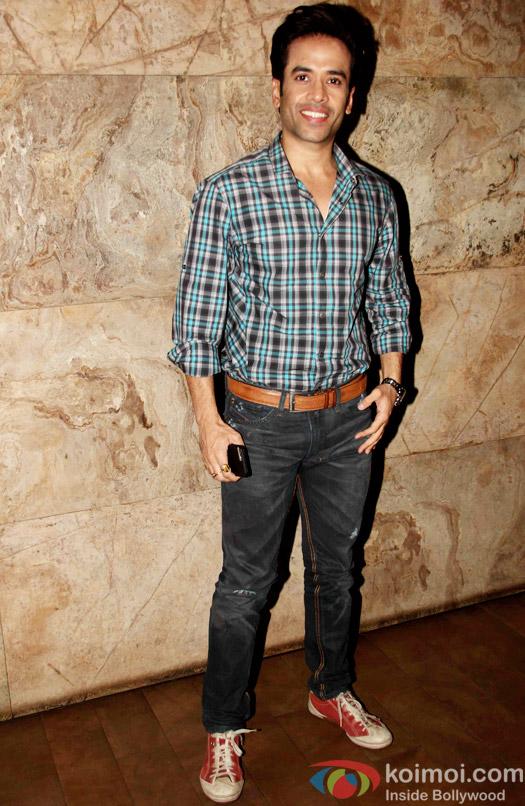 Tushar Kapoor during the special screening of Tanu Weds Manu Returns at Lightbox