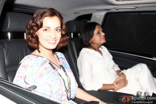 Dia Mirza At Piku Special Screening