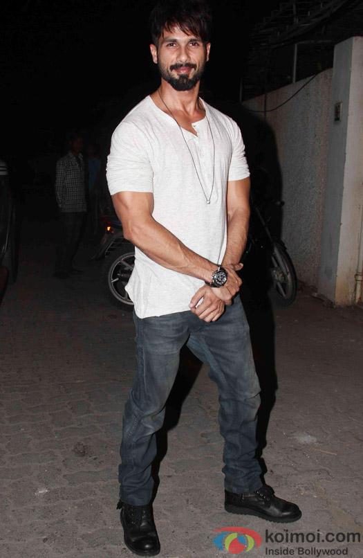 Shahid Kapoor during the success party of Tanu Weds Manu Returns