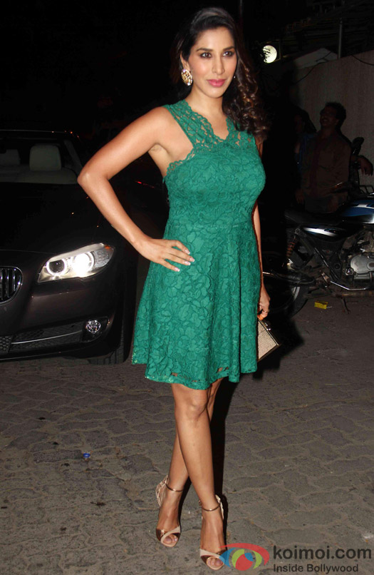 Sophie Choudry during the success party of Tanu Weds Manu Returns