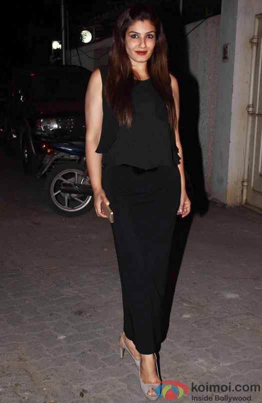 Raveena Tandon during the success party of Tanu Weds Manu Returns