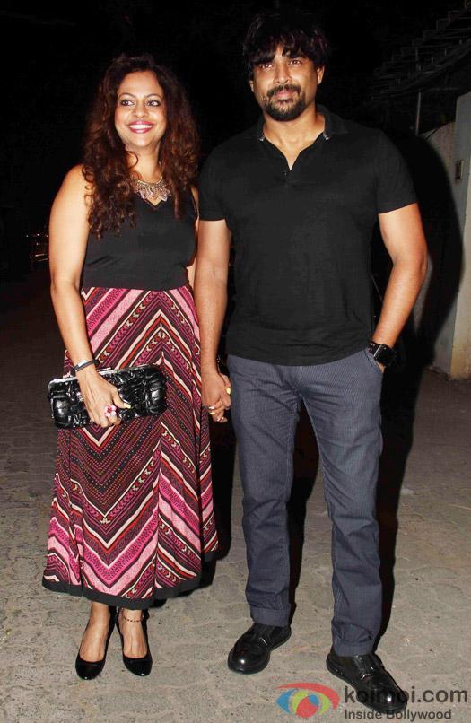 Sarita Birje and R. Madhavan during the success party of Tanu Weds Manu Returns