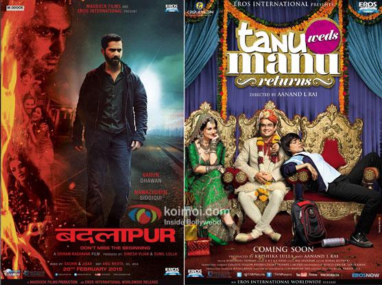 Badlapur and Tanu Weds Manu Returns movie posters