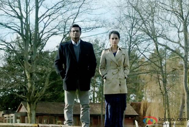 R. Madhavan and Kangana Ranaut in a still from movie 'Tanu Weds Manu Returns'