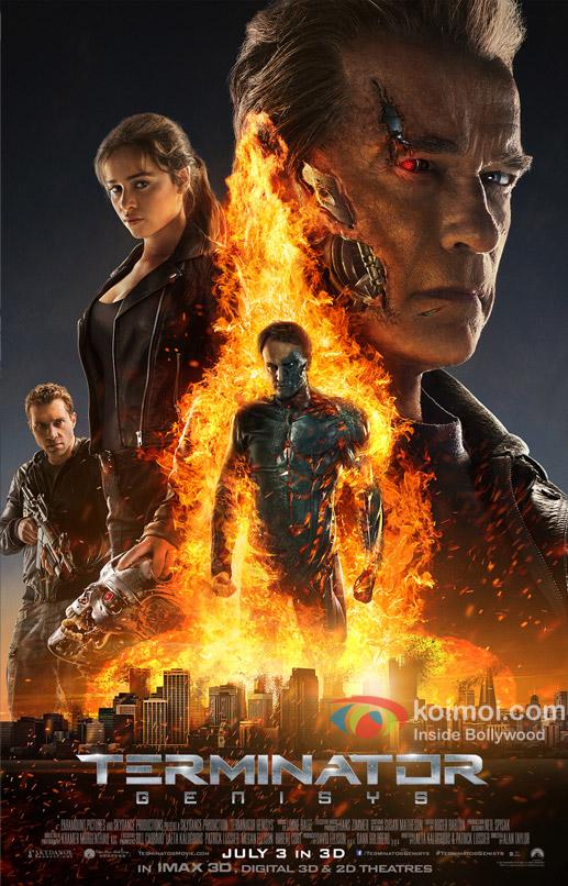 Arnold Schwarzenegger, Jason Clarke, Matt Smith, Byung-Hun Lee and JK Simmons Starrer 'Terminator: Genisys' movie poster