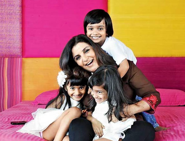 Farah Khan and Shirish Kunder Kids - Anya, Diva and Czar