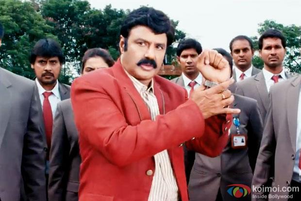 Nandamuri Balakrishna in a still from movie 'Lion'