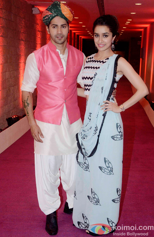 Varun Dhawan and Shraddha Kapoor during the promotion of ABCD2 At Auditions Of Indian Idol Junior 2