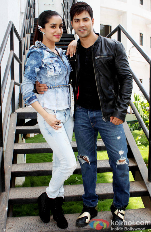 Shraddha Kapoor and Varun Dhawan during the promotion of 'ABCD - Any Body Can Dance - 2' on Nach Baliye 7