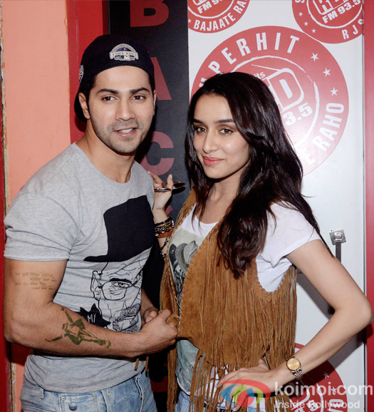 Varun Dhawan and Shraddha Kapoor during the promotion of 'ABCD 2' at  Red FM