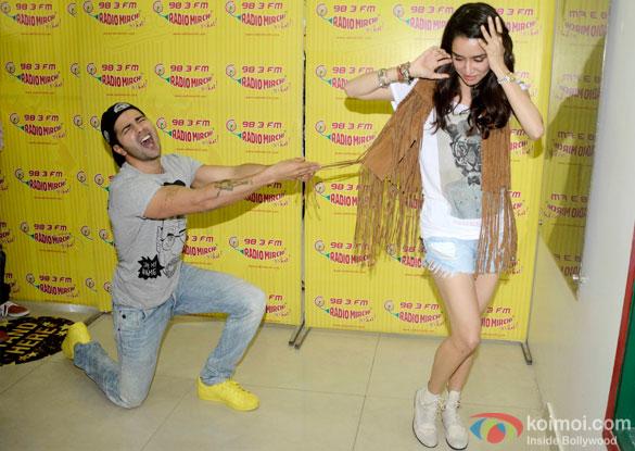 Varun Dhawan and Shraddha Kapoor during the promotion of 'ABCD 2' at  Radio Mirchi