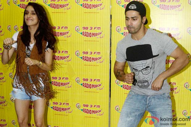 Shraddha Kapoor and Varun Dhawan during the promotion of 'ABCD 2' at  Radio Mirchi