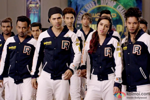 Varun Dhawan and Shraddha Kapoor in a still from movie 'ABCD 2'