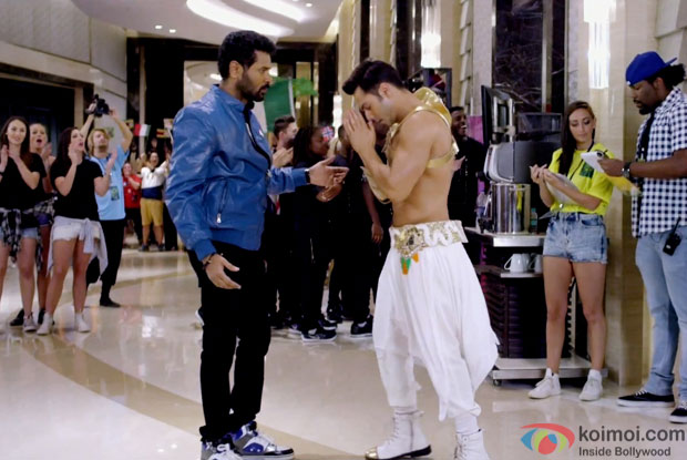 Prabhu Dheva and Varun Dhawan in a still from movie 'ABCD 2'