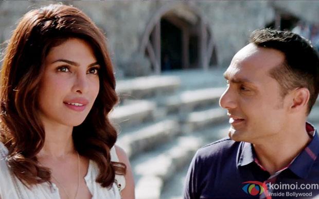 Priyanka Chopra and Rahul Bose in a still from movie 'Dil Dhadakne Do'