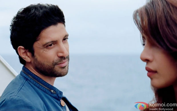 Farhan Akhtar and Priyanka Chopra in a still from movie 'Dil Dhadakne Do'