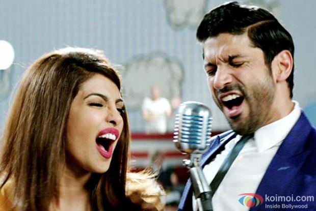 Priyanka Chopra and Farhan Akhtar in a still from movie 'Dil Dhadakne Do'