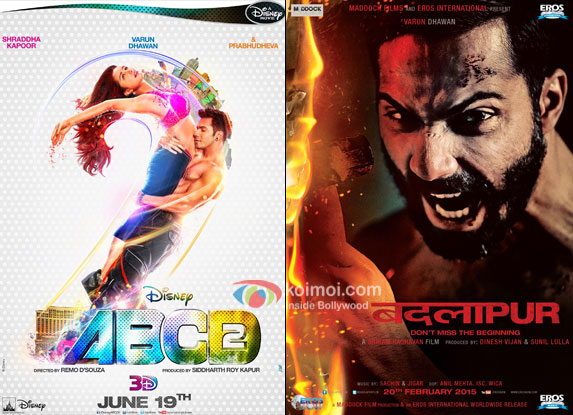 ABCD 2 and Badlapur movie posters