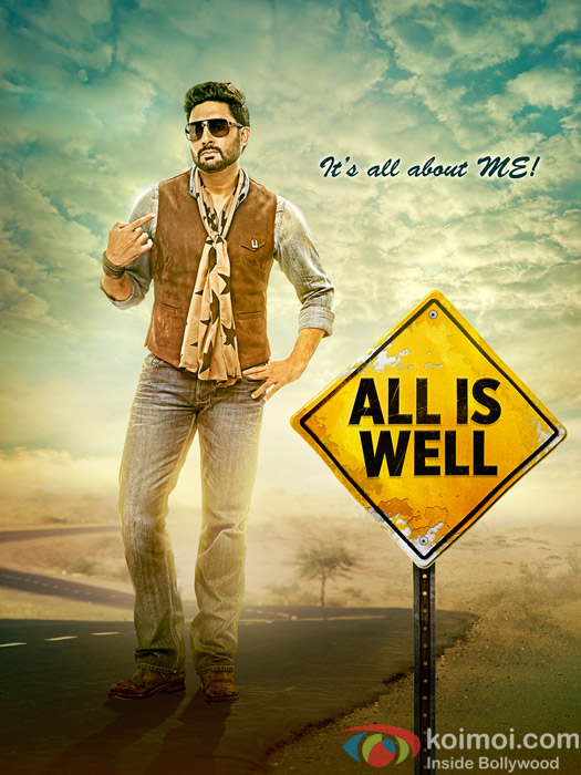 Abhishek Bachchan in a still ffom 'All Is Well' movie poster