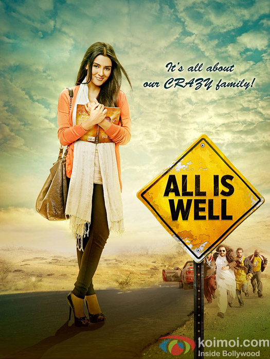Asin in a still ffom 'All Is Well' movie poster