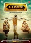 Rishi Kapoor, Abhishek Bachchan and Supriya Pathak in All Is Well Movie Poster