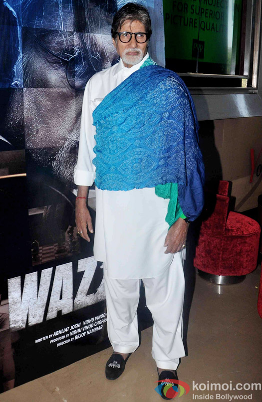 Amitabh Bachchan during the first look launch of the movie 'Wazir'