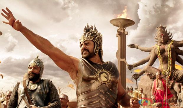 Prabhas in a still from movie 'Baahubali - The Beginning'