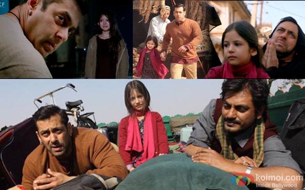 Salman Khan and Nawazuddin Siddiqui in a still from movie 'Bajrangi Bhaijaan'