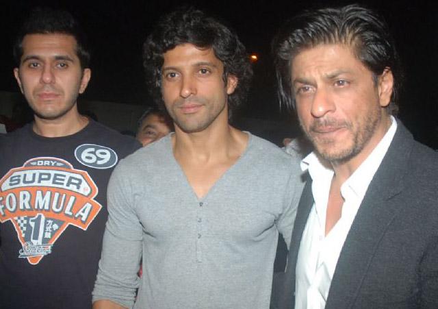 Ritesh Sidhwani, Farhan Akhtar and Shah Rukh Khan
