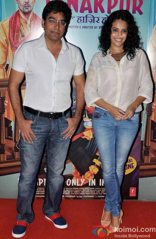 Ashutosh Rana during the screening of 'Miss Tanakpur Hazir Ho'