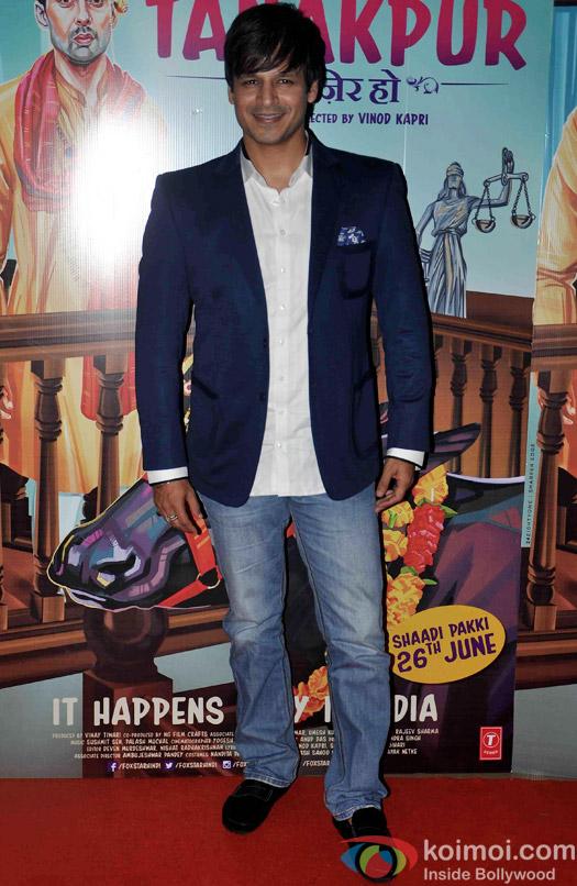 Vivek Oberoi during the screening of 'Miss Tanakpur Hazir Ho'