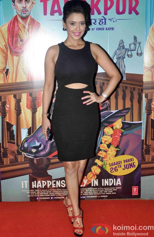 Hrishitaa Bhatt during the screening of 'Miss Tanakpur Hazir Ho'