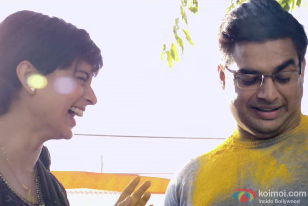 Kangana Ranaut and R. Madhavan in a still from movie 'Tanu Weds Manu Returns'