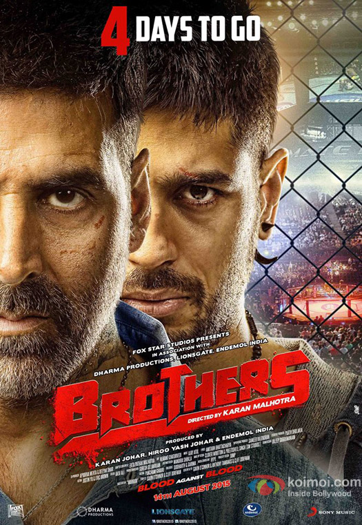 Akshay Kumar and Sidharth Malhotra in a 'Brothers' movie poster