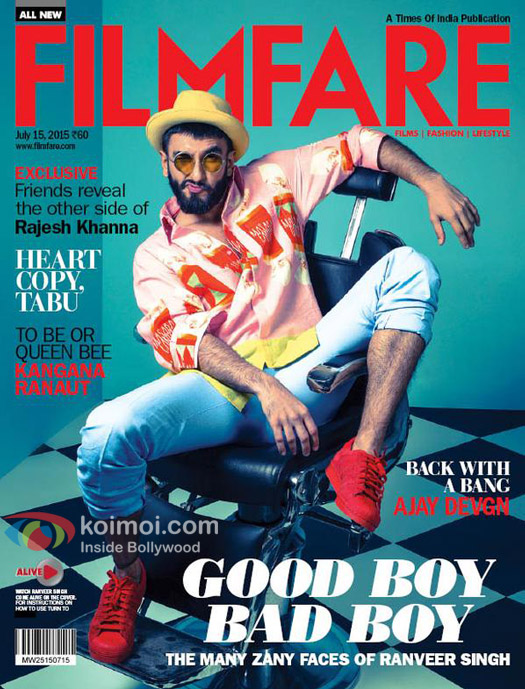 Catch The Zany Side Of Ranveer Singh On The New Filmfare Cover