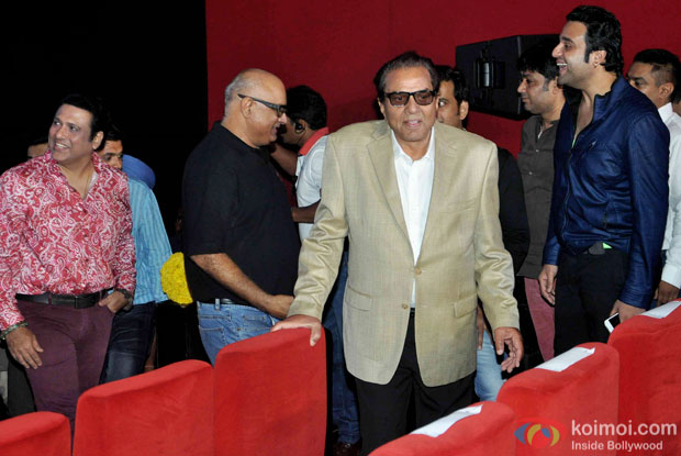Govinda, Dharmendra and Krishna Abhishek during the trailer launch of  'Second Hand Husband'