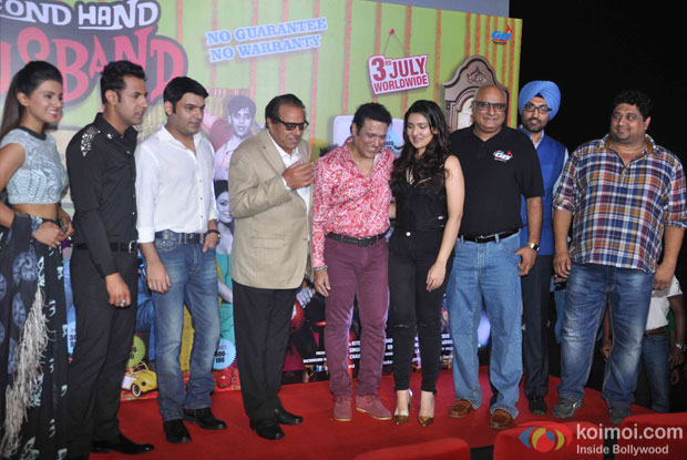 Geeta Basra, Gippy Grewal, Kapil Sharma, Dharmendra, Govinda and Narmmadaa Ahuja during the trailer launch of  'Second Hand Husband'