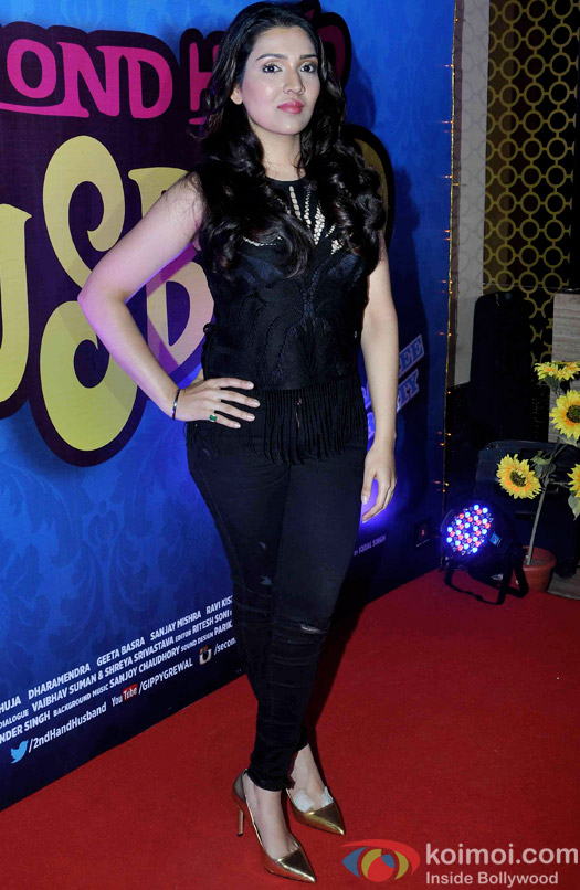 Narmmadaa Ahuja during the trailer launch of 'Second Hand Husband'