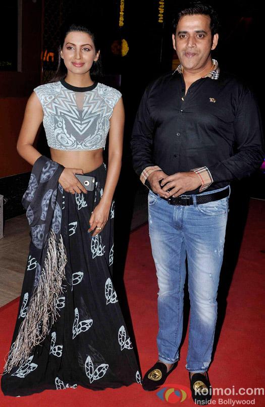 Geeta Basra and Ravi Kishan during the trailer launch of  'Second Hand Husband'