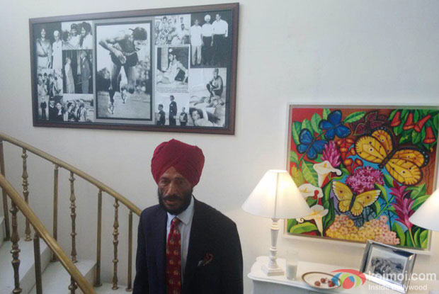 Milkha Singh at his house in Chandigarh