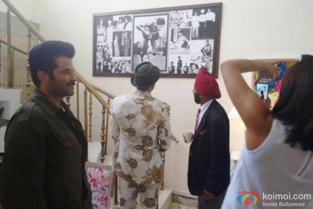 Anil Kapoor, Ranveer Singh and Priyanka Chopra visited  Milkha Singh's house in Chandigarh