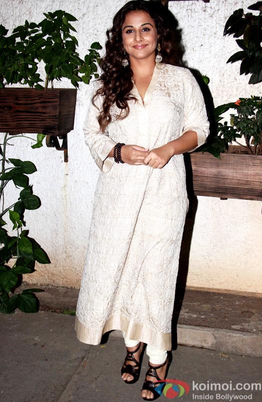 Vidya Balan during the special screening of Hamari Adhuri Kahani at Sunny Super Sound